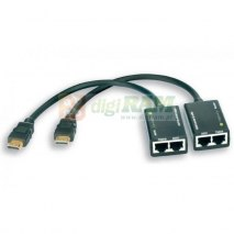 Extender HDMI Techly EXT-E30D po skrętce Cat. 5e/6 do 30m, czarny IDATA